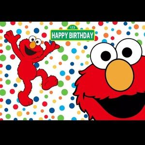 COPY - Elmo backdrop 5x3ft